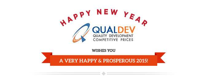 QualDev Wishes You A Very Happy & Prosperous 2015!