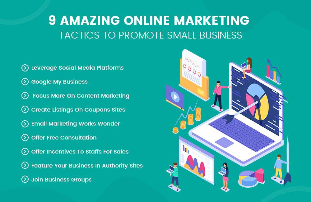Amazing Online Marketing Tactics To Promote Small Business