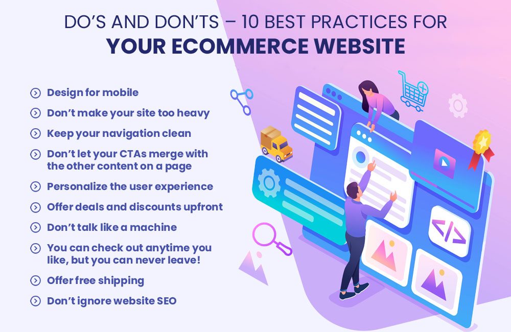 Do's and Don'ts – 10 Best Practices for Your eCommerce Website